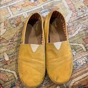 Toms Yellow Corduroy shoes